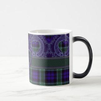 グラハムの一族の格子縞のスコットランド人のタータンチェック マジックマグカップ