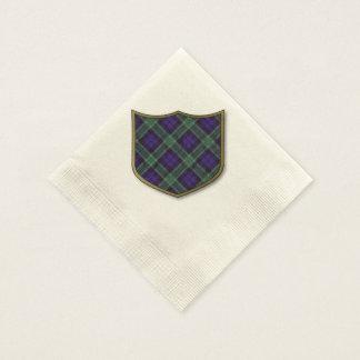 グラハムの一族の格子縞のスコットランド人のタータンチェック 縁ありカクテルナプキン