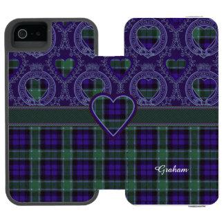 グラハムの一族の格子縞のスコットランド人のタータンチェック iPhone SE/5/5sウォレットケース