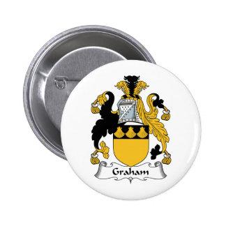 グラハムの家紋 5.7CM 丸型バッジ