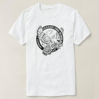 グラハムの高等学校の人の戦闘機T Tシャツ