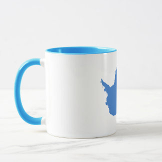 グラハムBartram南極大陸の旗の青い白 マグカップ