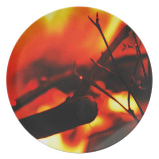 グラファイトの火の焼跡の煙の抽象芸術の金属の錆ついたアンチ プレート