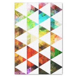 グラフィックによって絵を描かれる三角形のデザイン 薄葉紙