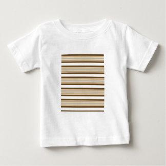 グラフィックのストライプのデザインの乳児のTシャツ ベビーTシャツ