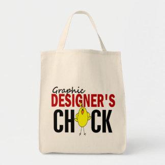 グラフィックデザイナーのひよこ トートバッグ