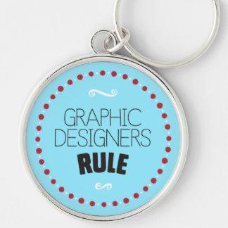 グラフィックデザイナーの規則Keychain -青 キーホルダー