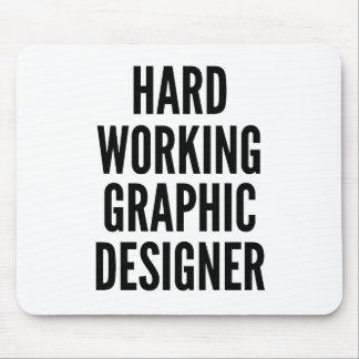 グラフィックデザイナーを働かせる懸命 マウスパッド
