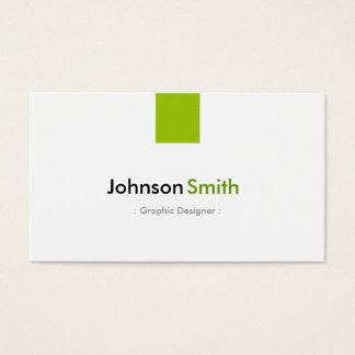 グラフィックデザイナー-シンプルで真新しい緑 名刺