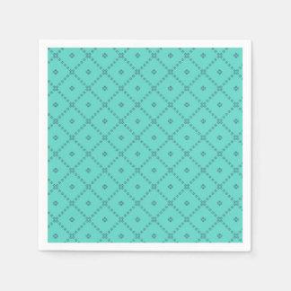 グラフィック・デザインの緑パターン スタンダードカクテルナプキン