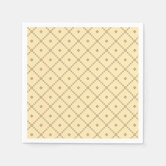 グラフィック・デザインの黄色パターン スタンダードカクテルナプキン