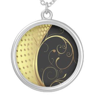 グラフィック・デザイン2のネックレス シルバープレートネックレス