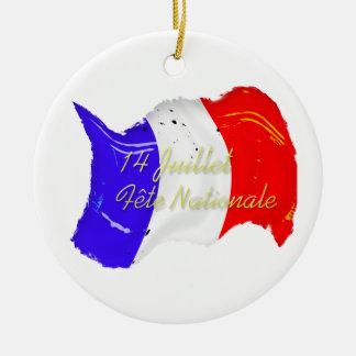グランジでフランスのな旗のオーナメント セラミックオーナメント