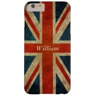 グランジで古いイギリスの旗-イギリス英国国旗 BARELY THERE iPhone 6 PLUS ケース