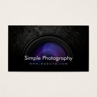 グランジで暗いカメラレンズの写真撮影の名刺 名刺