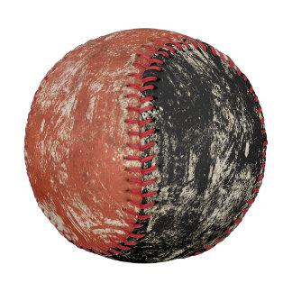 グランジで黒く及び赤い背景が付いている野球のプリント 野球ボール