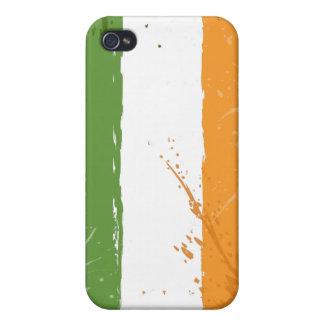 グランジなアイルランドのアイルランド人の旗 iPhone 4 カバー