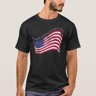 グランジなアメリカの独立記念日 Tシャツ