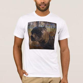グランジなアメリカ(犬)スタッフォードテリアのピットブル Tシャツ