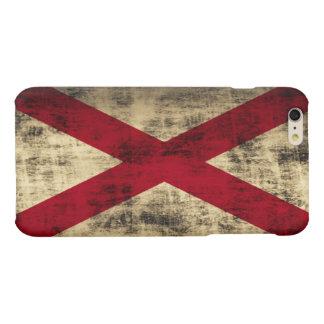 グランジなアラバマの旗 マットiPhone 6 PLUSケース
