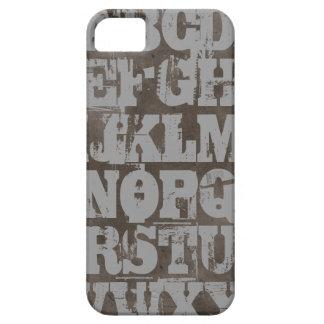 グランジなアルファベットの灰色のiPhoneの箱 iPhone SE/5/5s ケース
