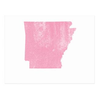 グランジなアーカンソーのピンクのヴィンテージ ポストカード