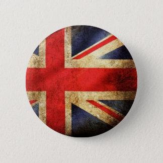 グランジなイギリスの旗ボタン 缶バッジ