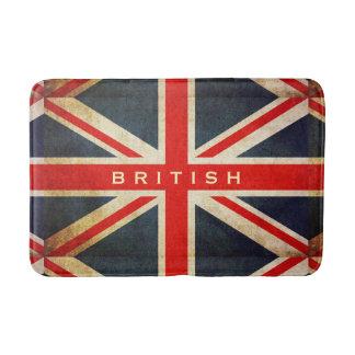 グランジなイギリスの英国国旗のカスタムなバス・マット バスマット