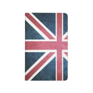 グランジなイギリスイギリスの英国国旗の旗 ポケットジャーナル