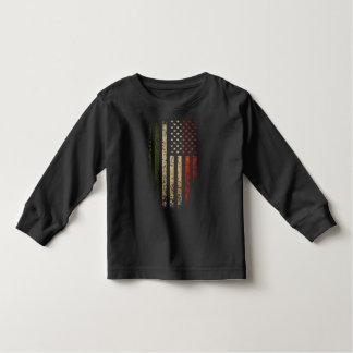 グランジなイタリアンな米国旗 トドラーTシャツ