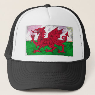 グランジなウェールズの旗 キャップ
