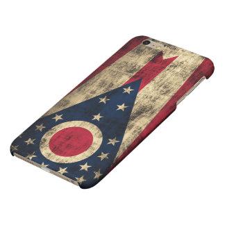 グランジなオハイオ州の旗 マットiPhone 6 PLUSケース