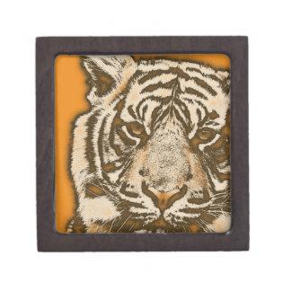 グランジなオレンジの抽象芸術のトラ ギフトボックス