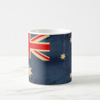 グランジなオーストラリアの旗 コーヒーマグカップ