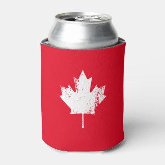 グランジなカナダの旗のかえで-赤い動揺して 缶クーラー