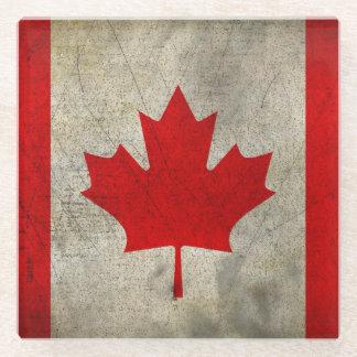 グランジなカナダの旗 ガラスコースター