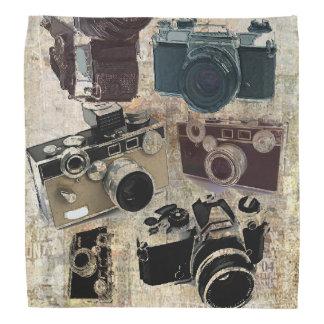 グランジなカメラマンの写真撮影のヴィンテージのカメラ バンダナ