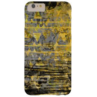 グランジなクールで黄色および灰色の種族の三角形 BARELY THERE iPhone 6 PLUS ケース