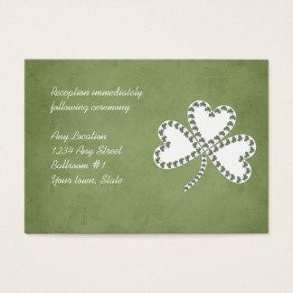 グランジなシャムロックのアイルランドの結婚披露宴カード 名刺