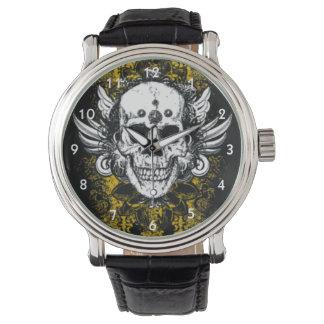 グランジなスカル 腕時計
