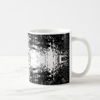 グランジなスタイルのモノクロ概要 コーヒーマグカップ