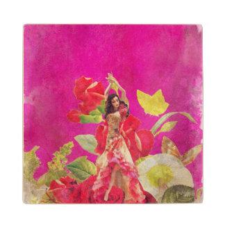 グランジなダンサーのばら色の花 ウッドコースター