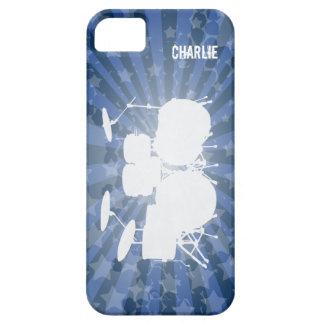 グランジなドラム青の破烈 iPhone 5 COVER