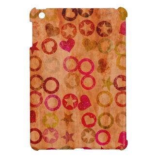グランジなハートの星の円のiPad Miniケース iPad Miniケース