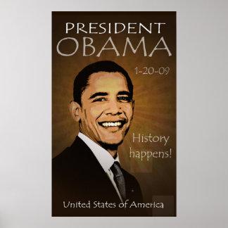 グランジなバラック・オバマ大統領ポスター- ポスター