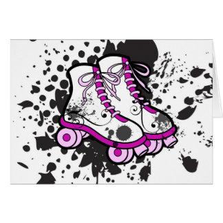 グランジなパンクのピンクのスケート カード