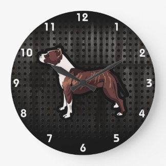 グランジなピットブル ラージ壁時計