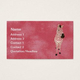 グランジなピンクのシマウマの名刺かラベル 名刺