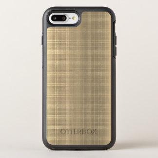 グランジなブラウンのタータンチェック格子縞90sのスタイル オッターボックスシンメトリーiPhone 8 plus/7 plusケース