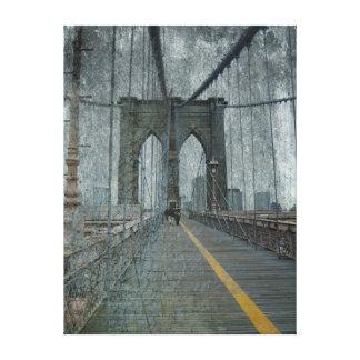 グランジなブルックリン橋 キャンバスプリント